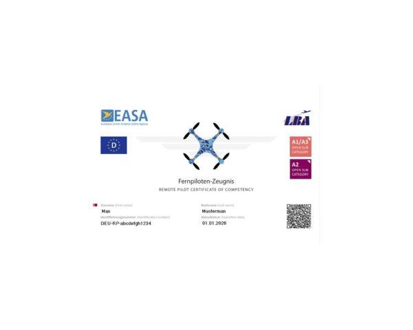 A2 Drone license EU